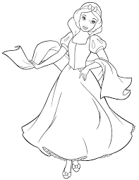 Disney Princess Snow White Coloring Page Hm Coloring Pages