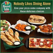 round table pizza no likes dining alone