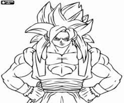 Kleurplaat De Super Saiyan Krijger Son Goku Kleurplaten