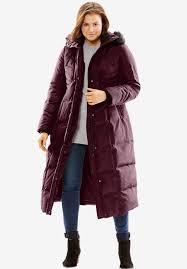 Hooded quilted down coat | Plus Size Puffer & Down Jackets | Woman ... & Plus Size Hooded quilted down coat Adamdwight.com
