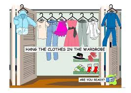 Fun Designing Clothes Games Hang The Clothes In The Wardrobe Game English Esl Powerpoints