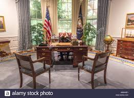 oval office desk. FEBRUARY 28, 2018 - COLLEGE STATION TEXAS George H.W. Bush Presidential Library And Museum Oval Office Desk