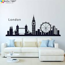 london england skyline city wall decal sticker vinyl wall art