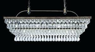 clarissa rectangular chandelier crystal drop round glass petite post