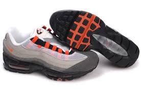 nike shoes air max 95. nike mens shoes air max gray orange 95