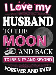 I Love My Husband To The Moon And Back Women's Fitted Scoop TShirt Inspiration How Can I Love My Husband