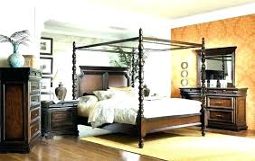 Wood Canopy Bed King Canopy Bedroom Sets King Platform Canopy Bed ...