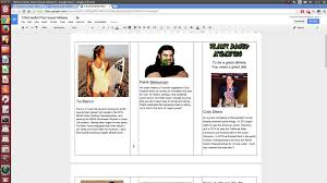 make tri fold brochure google docs making a tri fold leaflet youtube