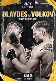 UFC Fight Night – Blaydes vs Volkov ...