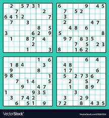 Template Sudoku Template Word Vector Image Blank Sudoku Template Word