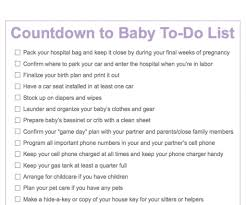 Baby Countdown Calendar Third Trimester To Do List Countdown To Baby Printable
