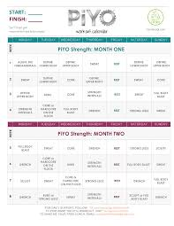 Free Strength Workout Calendar Sample | Templates At ...