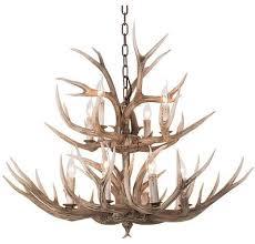 faux elk antler chandelier 12 lights