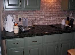 tiled countertop with custom paint backsplash