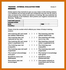 9-10 Training Evaluation Form | Generalresumes.info