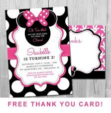 Free Minnie Mouse Birthday Invitations Minnie Mouse Birthday Invitations Porticvm Com
