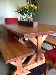 Kitchen Tables With Benches Fancy X Farmhouse Table And Benches Plans At Ana Whitecom