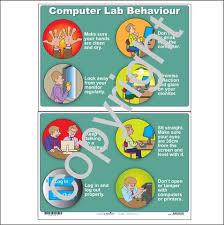 Computer Lab Behavior Wall Chart Promonis