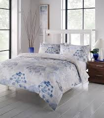 an easy care printed duvet cover set with a fl pattern single quilt set includes a pillowcase while double king and super king sizes include two