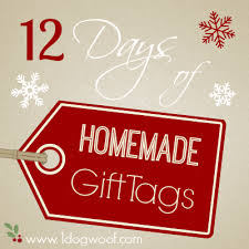 12 Days of Homemade Christmas Gift Tag Ideas