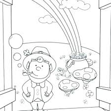 Pot Of Gold Color Sheets Pot Of Gold Coloring Pages Utknoxville Org