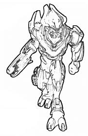 Small Picture Halo Reach Elite Coloring Pages Coloring Me