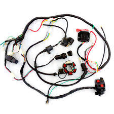 go kart accessories c37lj wiring harness coil solenoid atv quad buggy go kart bring for gy6 150cc