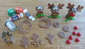 Christmas Crafts For Kids To Make Reeses Cup Rudolph The Red Nose Reindeer Christmas Desserts