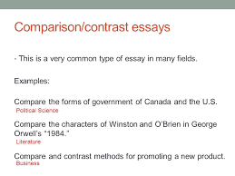 academic writing i th ppt video online  7 comparison contrast essays
