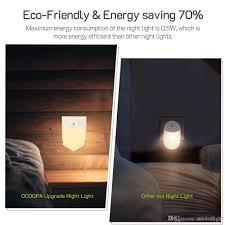 Eco Night Light Sensor 2019 Plug In Night Light Led Night Lights With Auto Dusk To Dawn Sensor For Hallway Bedroom Kids Room Kitchen Bathroom Stairway From Autoledlight