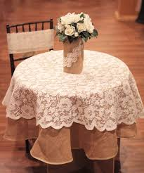 the lace ribbon burlapfabric burlap for wedding and special events inside ivory lace round tablecloth designs