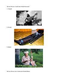 Angklung dan gong adalah contoh alat musil ansambel yang bersumber jika alat musik tersebut dimainkan. Gambar Alat Musik Ritmis Melodis Harmonis