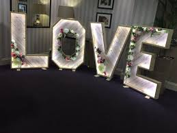 Wedding Love Lights Rustic Wooden Light Up Love Letters For Your Wedding Day