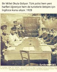 Can you name the police phonetic alphabet? Turkish Police Learning The Latin Alphabet And Also English 1928 Alltheturkey