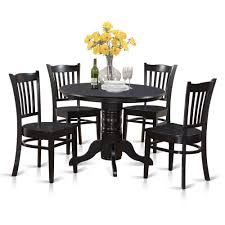 Haddie Light Tone Round Table 5 Piece Small Round Table And 4 Dining Chairs Ebay Green