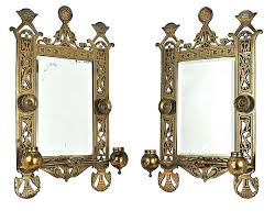 vintage hardware lighting pair of antique candle sconces w beveled mirrors ant wall mirror antique candle wall sconces