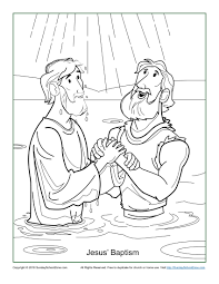 Small Picture Jesus Baptism Coloring Page Childrens Bible Activities