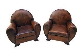 vintage leather club living room set set of 3