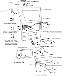 2 exploded view of the sliding door and related ponents