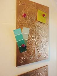 How To Make A Magnetic Memo Board The Lovely Side Copper Magnetic Memo Board DIY 90