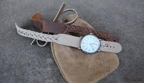 north star mystery braid leather on stud watch band 16