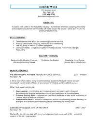 Unique Bartender Server Resume Description Image Documentation