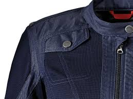 bmw venting motorcycle jacket lady blue