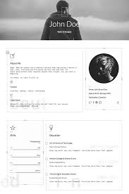 Personal Resume 100 Best HTML Resume Templates for Awesome Personal Sites 15