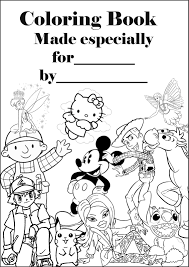 book cover page maker personalised coloring book cover page
