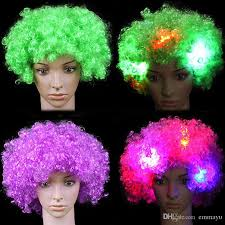 Rave Theme Party 2019 Amazing Explosion Of Head Led Light Up Flashing Hair Wig Fans