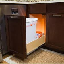 Cabinet Garbage Can Pull Out Under Cabinet Trash Out Home In Kitchen