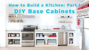 Diy Kitchen The Total Diy Kitchen Part 1 Base Cabinets Youtube