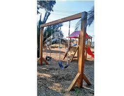 timber swing frames