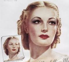 1940 1941 hairstyle smooth finger waves on top rolled curls to the back